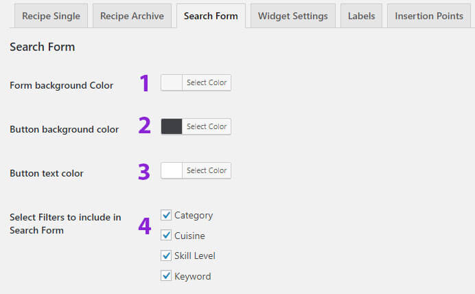 boo-recipe-search-form-settings